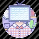 head, marketing, television, tv
