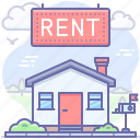 house, real estate, rent icon