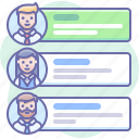 accounts, employee, list, people icon