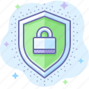 encryption, protection, security, shield icon