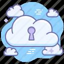 cloud, data, privacy, private, secret icon