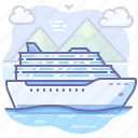 boat, cruise, travel, vacation icon