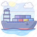 boat, cargo, logistics, transport icon