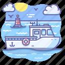 boat, patrol icon