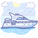 boat, speed, yacht icon