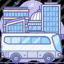 bus, city, transport icon