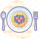 food, meatballs, pasta, plate, spaghetti