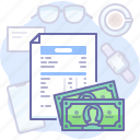invoice, document, payment, money, payout icon
