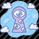 privacy, secret, keyhole, spy, eye icon