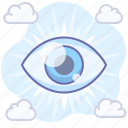 watch, view, show, eye icon