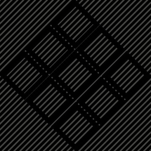 display, skeleton, surface, wireframe icon