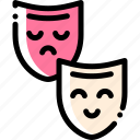 emoji, face, feeling, mask icon