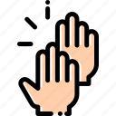 clap, gesture, hands, sign icon