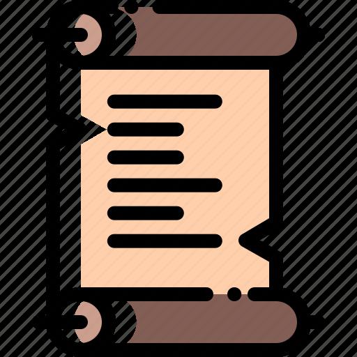 document, file, paper, papyrus icon