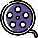 cinema, film, movie, roll icon