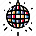 ball, disco, game, play icon