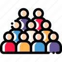 audience, business, marketing, online icon