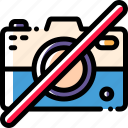 camera, image, no, photography icon