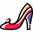 footwear, heels, high, shoes icon