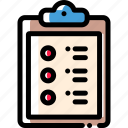 clipboard, document, file, paper icon