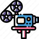 film, movie, projector, video icon