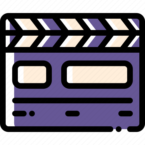 clapperboard, film, movie, play icon