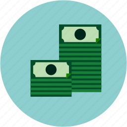 bills, dollars, ecommerce, money, pile icon