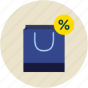 bag, discount, shopping icon