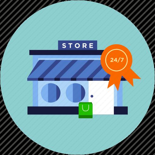 ecommerce, market, open, shop, store icon