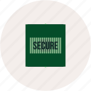 code, ecommerce, safe, security icon