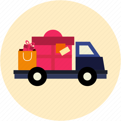 delivery, gift delivery, shipping, truck icon