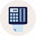 accounting, bill, ecommerce, payment, print icon