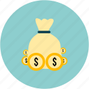 dollars, ecommerce, money icon