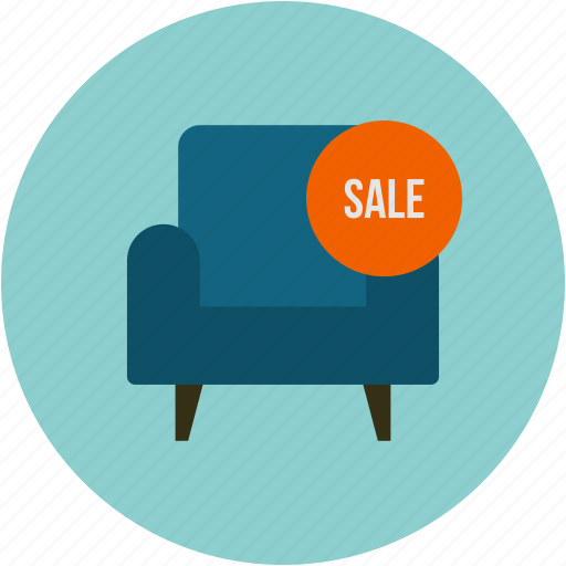 furniture, on slae, sale, shopping icon