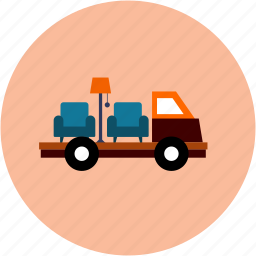 delivery, furniture, shipping icon