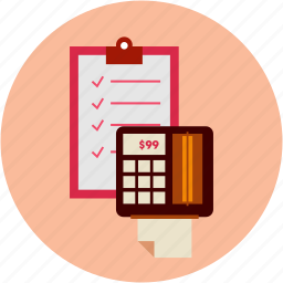 bill, calculation, ecommerce icon