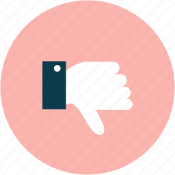 bad, dislike, thumbs down icon