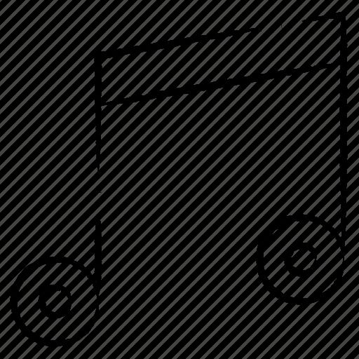 multimedia, music, note icon