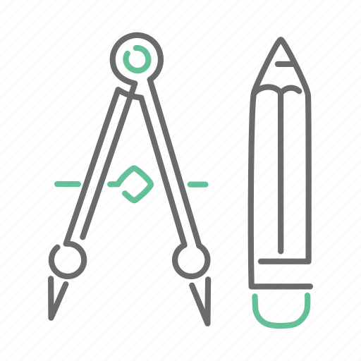 design, drawing, school, tool icon