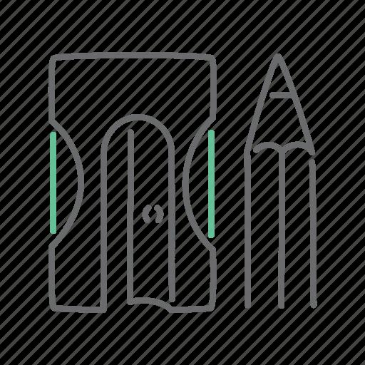 draw, pencil, sharpener icon