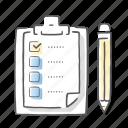 accept, approved, check, checklist, clipboard, list icon