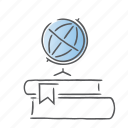 books, earth, geography, globe, map