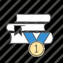 achievement, prize, reward, success, trophy icon