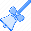 bell, bow, college, learning, school, university icon