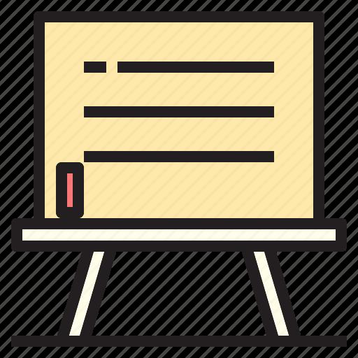blackboard, board, education, knowledge, technology icon