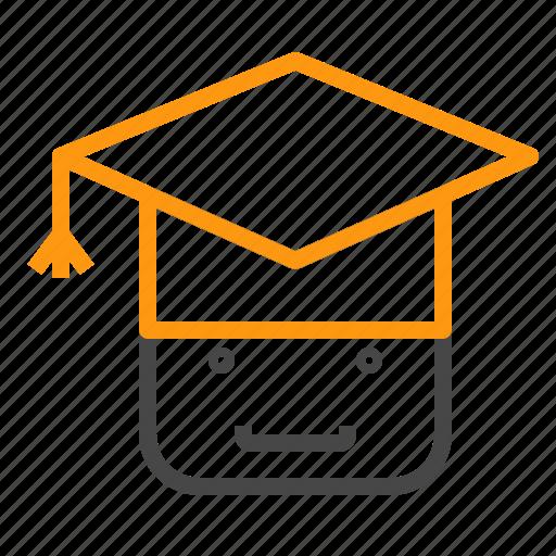 education, graduate, school, study icon
