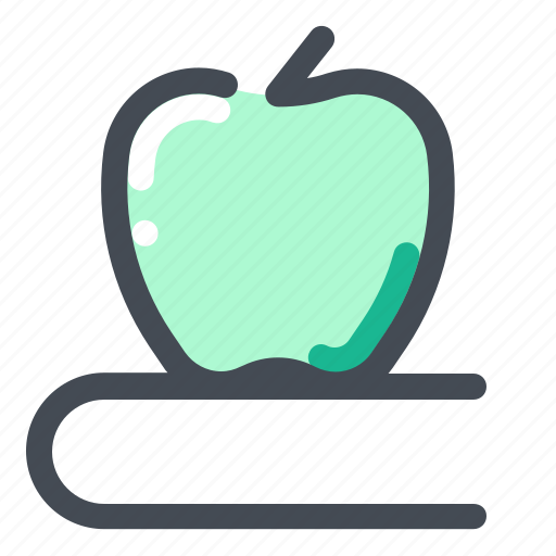 Apple, book, education, knowledge, learn, school, study icon - Download on Iconfinder