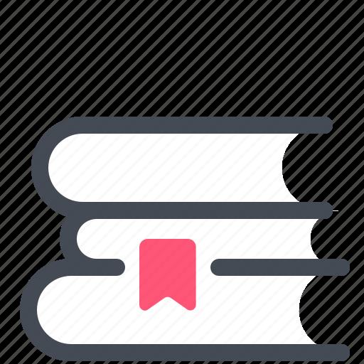 School, knowledge, bookmark, library, books, lesson, education icon