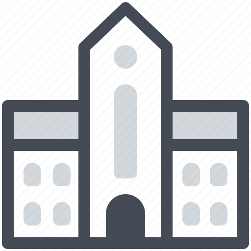 building, college, education, educational, institution, school, study icon