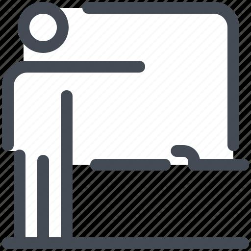 board, education, lesson, school, study, teacher icon